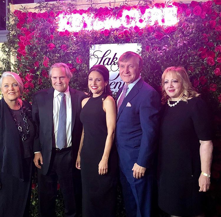 Dr. Jay Orringer and Julia Louis-Dreyfus at the Saks Fifth Avenue Key to the Cure event