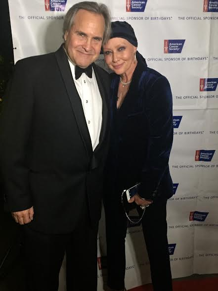 Shannen Doherty with her plastic surgeon Dr. Jay Orringer at a gala in 2016